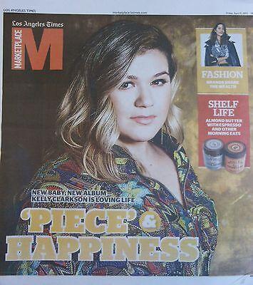 La Times Marketplace April 2015 Kelly Clarkson New Baby New Album Fashion