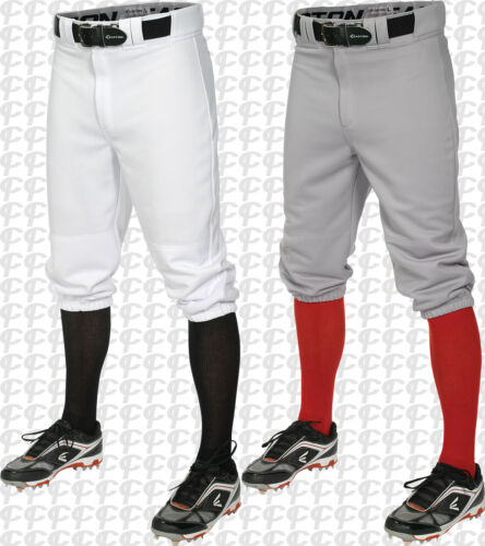 Easton Youth Boys Pro + Knicker Style Baseball Pants White or Grey A167104 S-XL