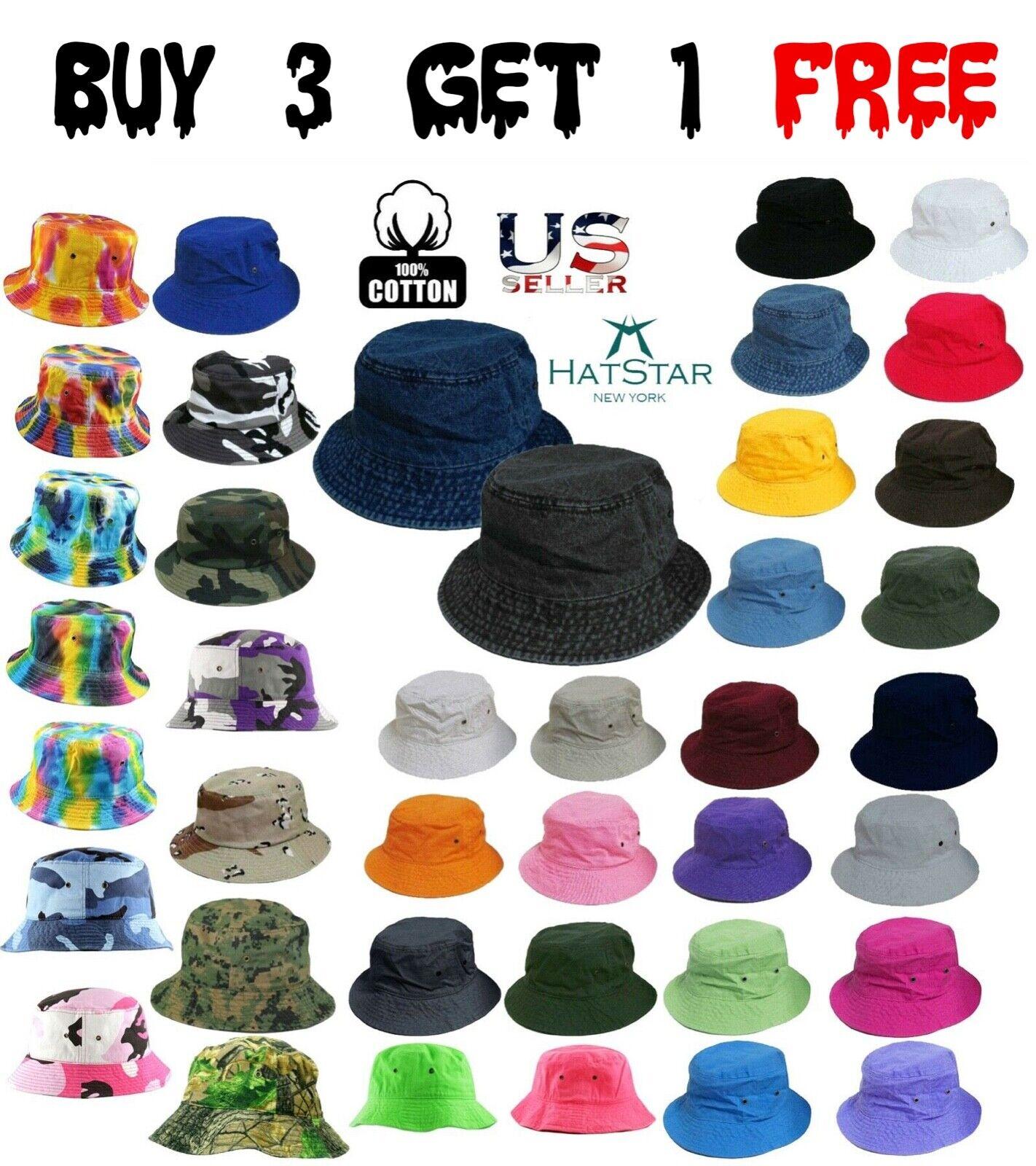 Bucket Hat Boonie Visor Hunting Fishing Outdoor Summer Cap Unisex 100% Cotton