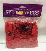 CARNEVALE HALLOWEEN RAGNATELE ADDOBBO COLORATE ROSSE SPIDER WEBS RED 25 GR 476558ab2c2d