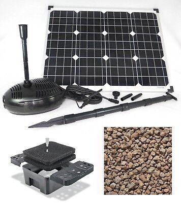 50 W solare stagno pompa filtro sistema immersione Pumpenset STAGNO DA GIARDINO
