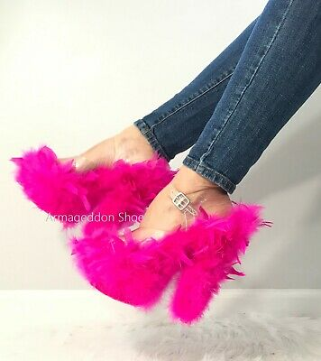 Pink Feather Shoes (7