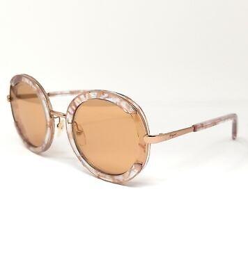 Salvatore Ferragamo Sunglasses SF164S 058 Crystal Quartz Round Women's 56x25x140