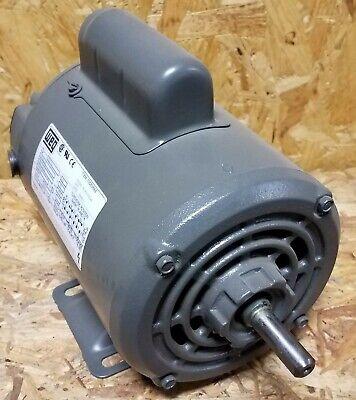 Brand New Weg 12 Hp Single Phase Motor  .50180s1bc48 12 Diameter Shaft