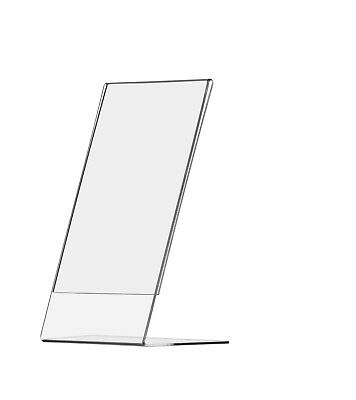 """4""""W x 9""""H Ad Material Menu Sign Frame Table Sign Holder Clear Display"""