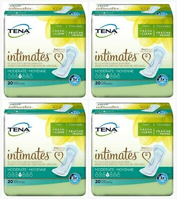TENA Intimates Bladder Control Pads, Incontinence Pads, Moderate, Pack of 4