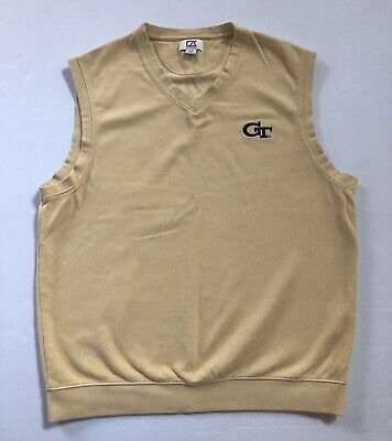 Georgia Tech Yellow Jackets Pullover Sweater Vest Men's Large L Gold