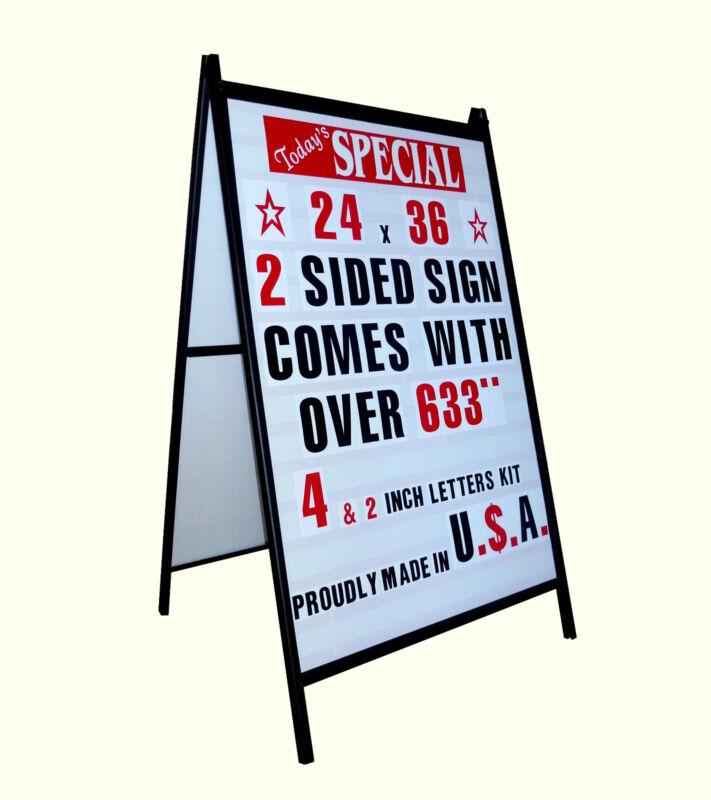 NEW A FRAME 2 SIDED SIDEWALK SIGN SANDWICH BOARD & LTRS
