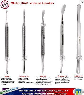 5pcs Periosteal Elevators Set Dental Elevator Implantologysurgical Instruments