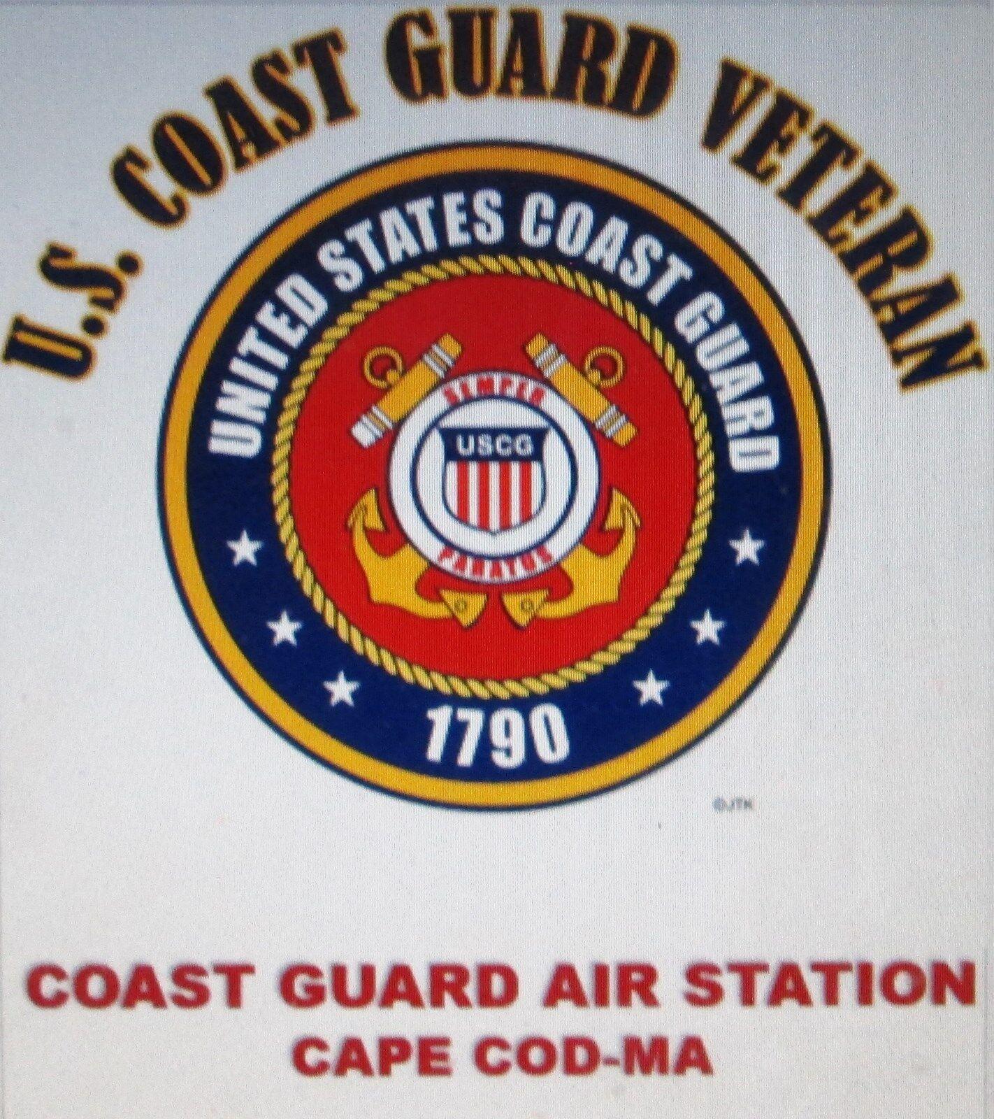 US COAST GUARD AIR STATION CAPE COD-MA*COAST GUARD VETERAN EMBLEM*SHIRT