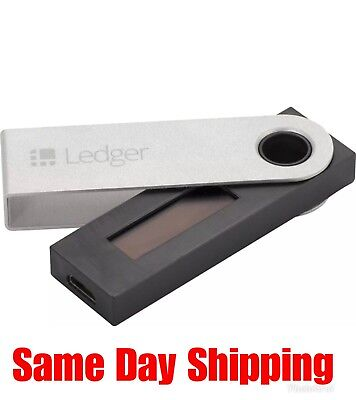 Ledger Nano S Bitcoin Ethereum Crypto Altcoin Litecoin Ripple Wallet NEW SEALED