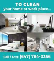 RESIDENTIAL and COMMERCIAL CLEANING SERVICE- NORTH GTA