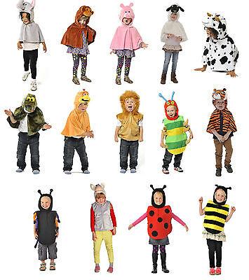 Children's Kids Boys Girls Zoo Farm Animal Cape & Tabard Fancy Dress Up - Farm Girl Fancy Dress Kostüm