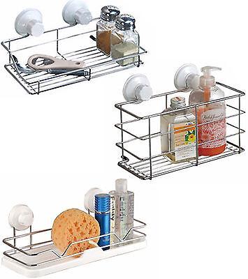 Stainless Steel Shower Caddy Bathroom Wall Storage Rack Shelf Organiser Basket Solid Stainless Steel Shower Basket