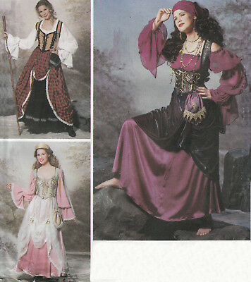 GYPSY Renfaire Street Fair Halloween Costume Gown | 14-20 | UNCUT Sewing Pattern (Gypsy Halloween Costumes Plus Size)