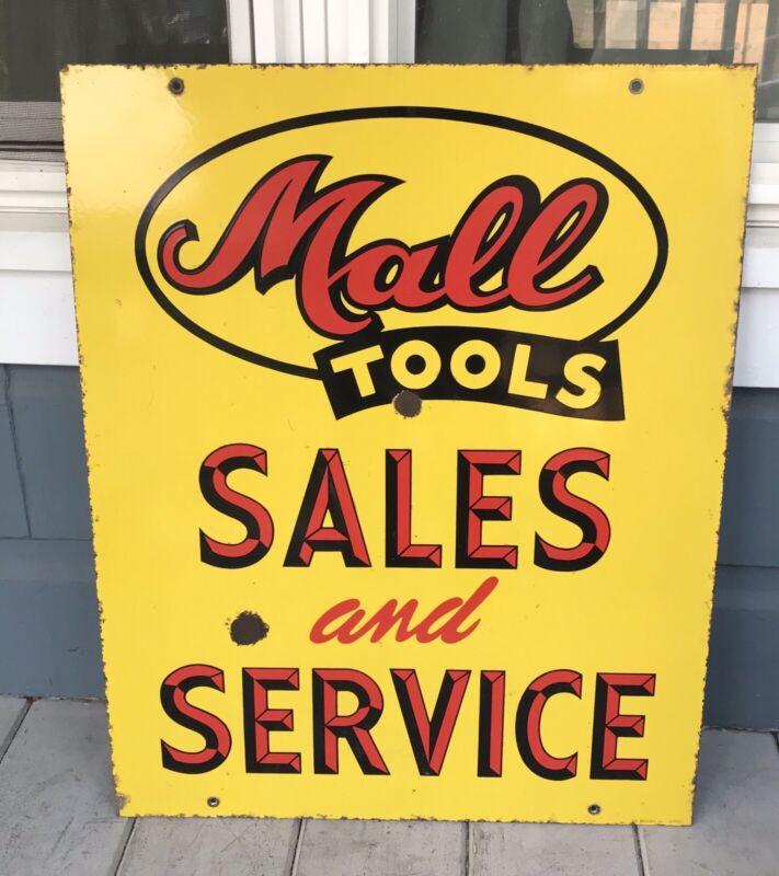 Antique Vintage Mall Tools Chicago Sales Service Porcelain Sign