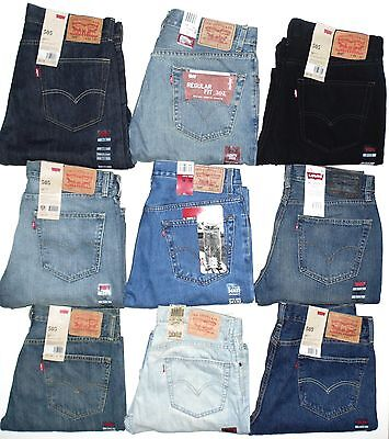 Levis 505 Mens Jeans Regular Fit Straight Leg Many Colors Many Sizes Brand New