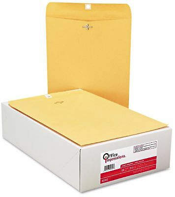 200 Business Envelopes 9x12 Kraft Clasp Manila Catalog Yellow Brown - New