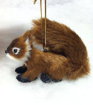 Fur Squirrel Woodland Animal Christmas Tree Ornament