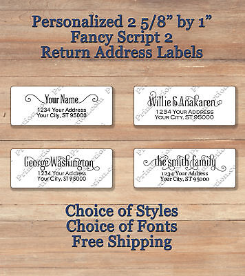Personalized Printed Return Address Labels 2 58 X 1  Elegant Script 2