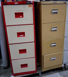 Retro Rustic Industrial Metal 4 Drawer Office Filing Cabinets Richmond Yarra Area Preview