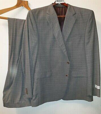 NEW Jack Victor Lennox CT Grey Plaid Mens Suit Jacket 50L/Trousers 45L RRP £1020