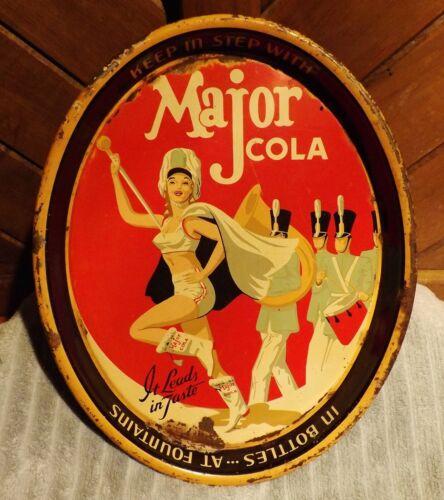 Vintage Major Cola Advertising Tray Soda