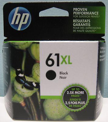 HP 61XL HIGH YIELD GENUINE BLACK INK CARTRIDGE, NIB