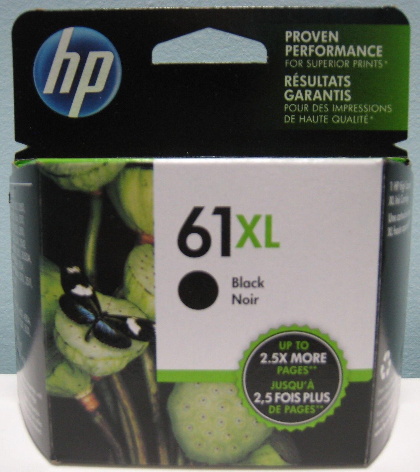 HP 61xl High Yield Genuine Black Ink Cartridge,