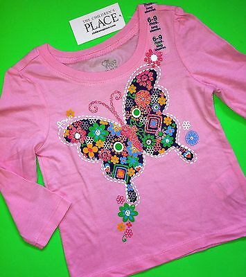 NEW! 'Butterfly' Baby Girls Graphic Shirt 12-18 Months Gift! Pink Nice
