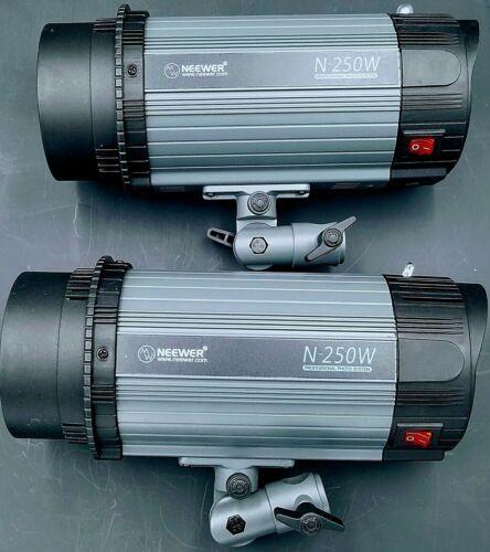 (2 Pack) Neewer 250W Studio Strobe Flash Monolight Photography Lights