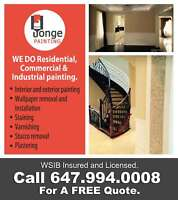 Residential, Commercial & Industrial painting.Call 647.994.0008