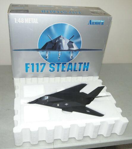 Rare!! Nice!! FRANKLIN MINT ARMOUR F-117 STEALTH U.S. AIR FORCE #98061 1:48 +Box
