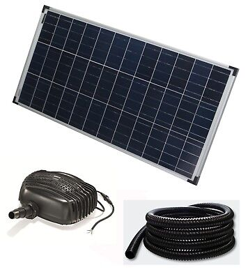 80 W Solar Pump Pond Dive Pump + 5m Hose Water Element Garden Pond Waterfall