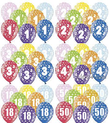 40 Geburtstag Ballons (10 Luftballons mit Zahl 1 2 3 4 5 6 7 8 9 10 18 25 30 40 50 60 70 80 Geburtstag )