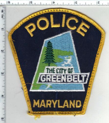 Greenbelt Police (Maryland) uniform take-off shoulder patch from 1980