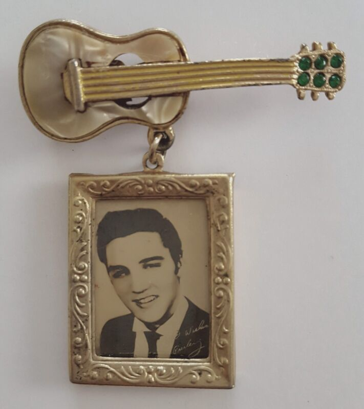Elvis Presley 1956 - Guitar Pin - Rare
