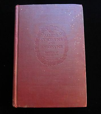 Allens Synonyms And Antonyms   F Sturges Allen   Harper   Brothers   1921