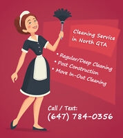 RESIDENTIAL CLEANING SERVICE IN NORTH GTA
