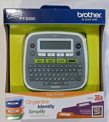 Brother P-touch Pt-d200 Label Thermal Printer Maker No Cord Tested Works Great