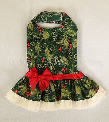 Ivory Holly - M Holly Berry Ivory Lace Christmas Dog dress clothes pet Clothing Medium PC Dog®