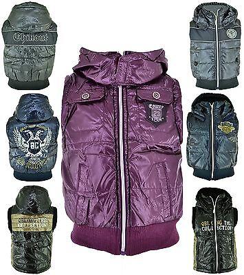 Weste Mädchen Jungen Steppweste Winter Übergang Jacke mit Kapuze Neu Gr. 98146