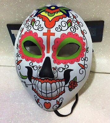 CARNEVALE HALLOWEEN MASCHERA SANTA MUERTE MASK MESSICANA MEXICO B - Santa Muerte Halloween Mask