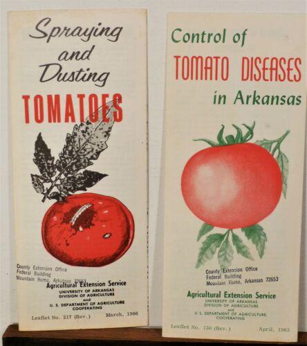 1963 1966 Arkansas Tomato disease vintage informational brochures set b