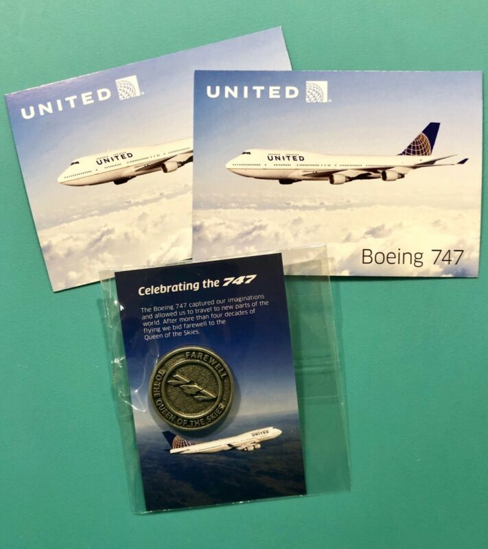 UNITED FAREWELL 747 SPECIAL PIN