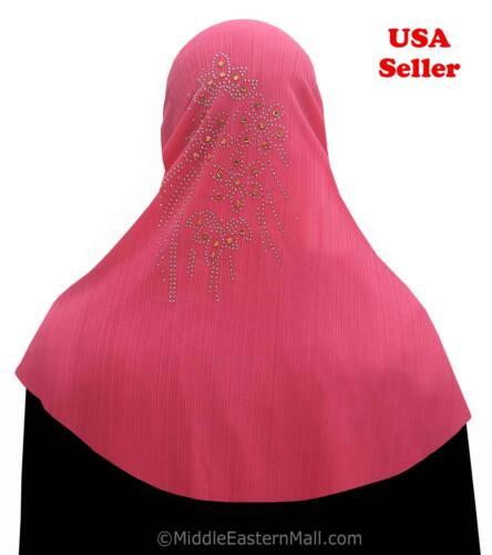 Long Khimar Amira Hijab Yasmin #4 Hot Pink Khimar Hijab One Piece long Prayer
