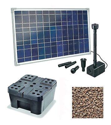 Solar Vogeltränke Garda Mit Springbrunnen Und Led Beleuchtung   Gartenteich Pumpe Buyitmarketplace De