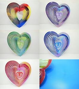5Pcs Heart Shaped Wave Wind Spinner Mixed Color
