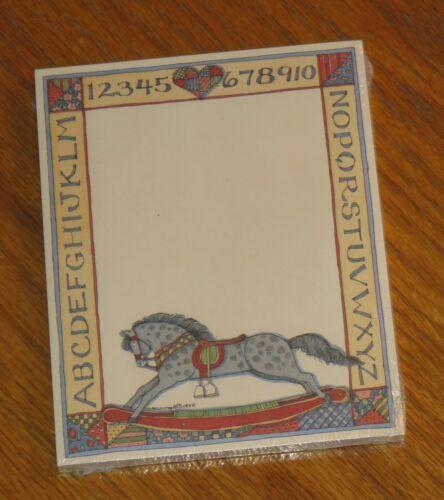 Susan Winget Art Rocking Horse Alphabet Vintage Lang Main Street Press Note Pad