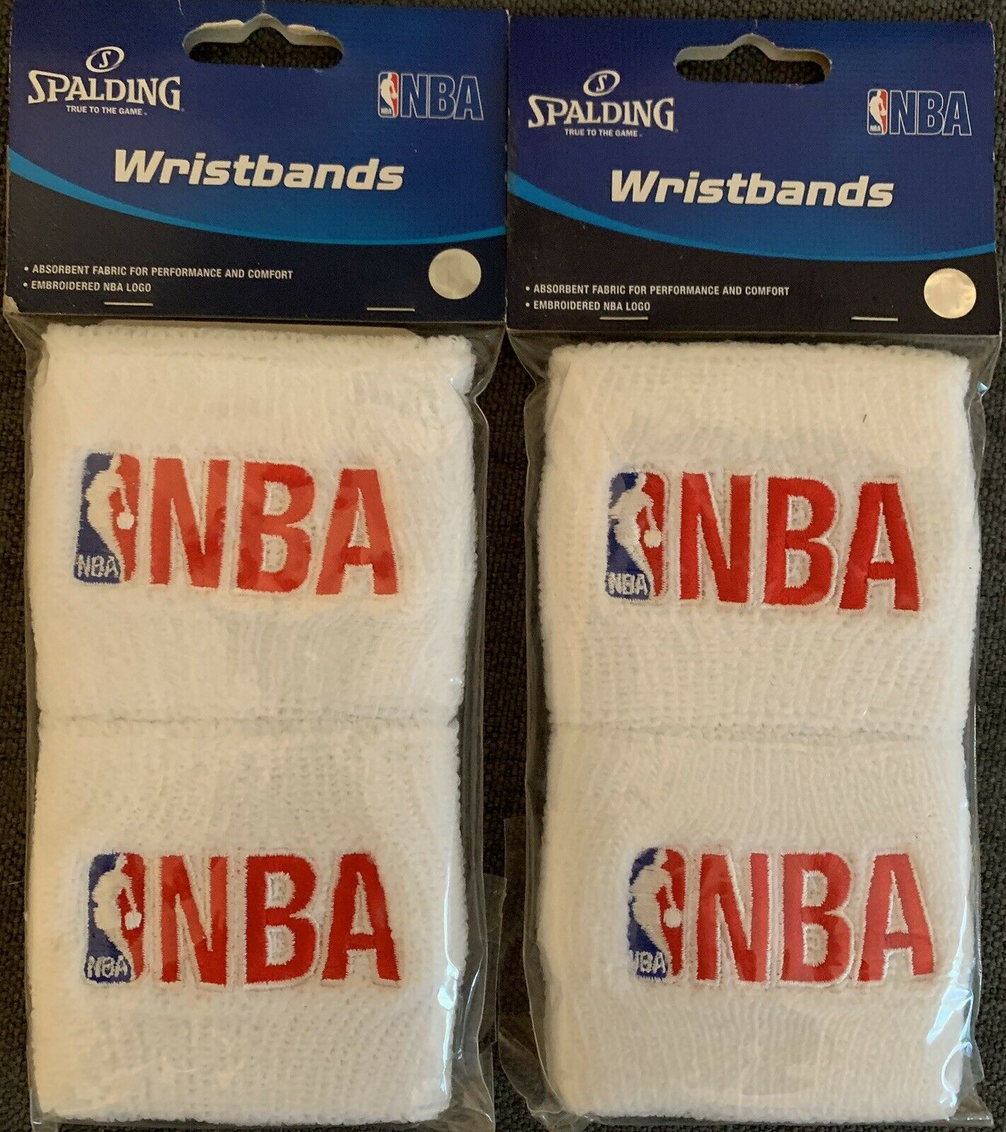 Spalding Wrist Bands 2 Pack – Lot of 2  New in Pkg.